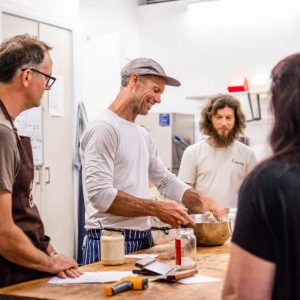 Dave and group baking class